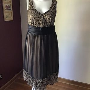 New black and gold dress
